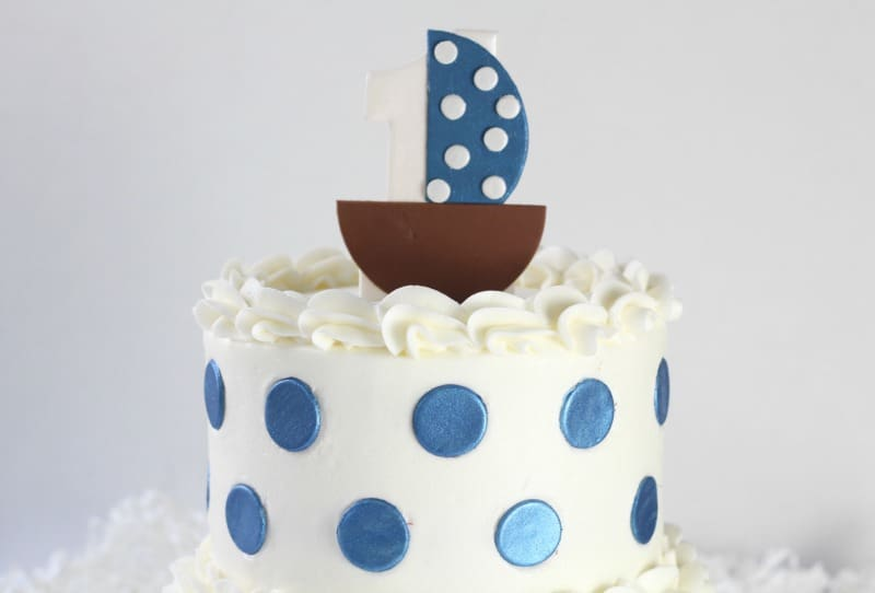 Sailboat Cake Topper on cake