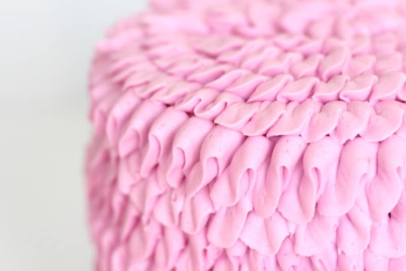 ruffle cake side view