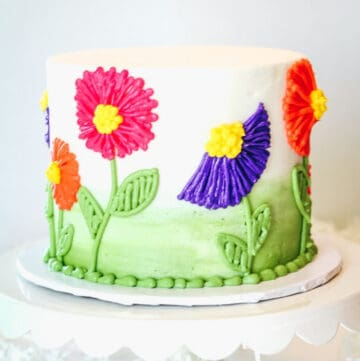 buttercream flower cake featured image