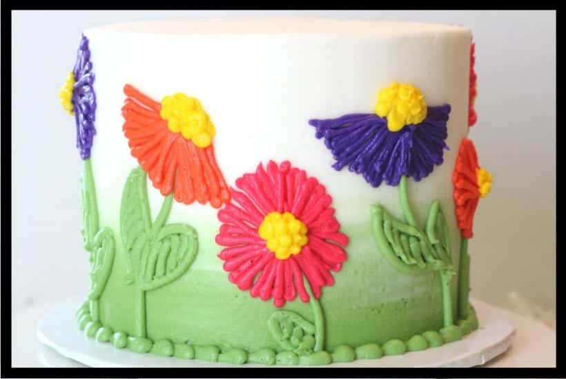 Easy Buttercream Flower Cake Featured Image