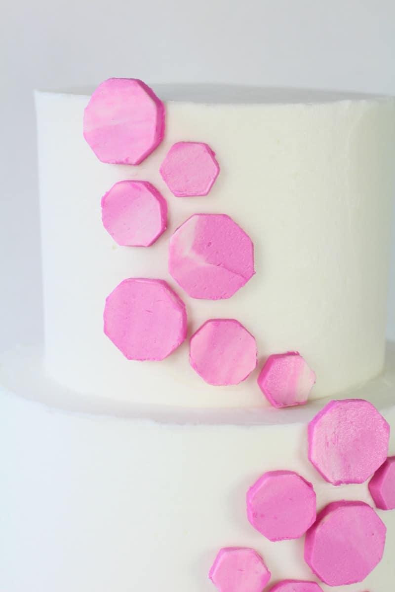 Geometric Buttercream Cake top tier