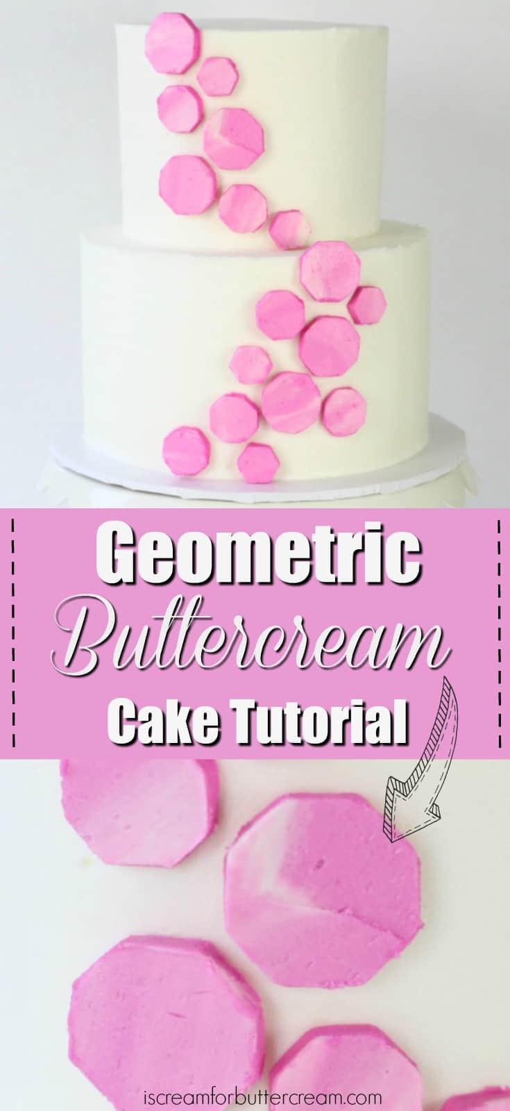 Geometric Buttercream Cake Pinterest Graphic