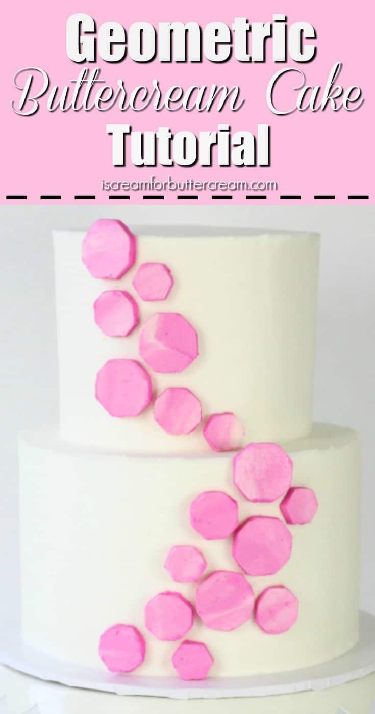 Geometric Buttercream Cake