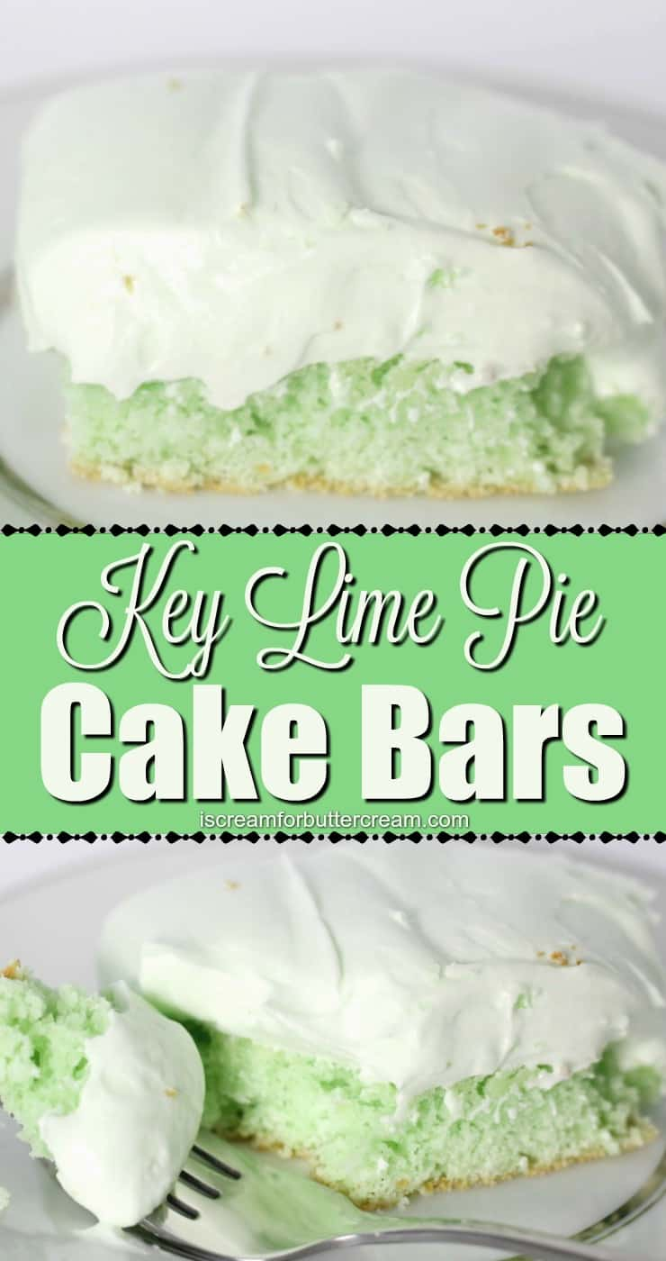 Key Lime Pie Cake Bars Pin Graphic