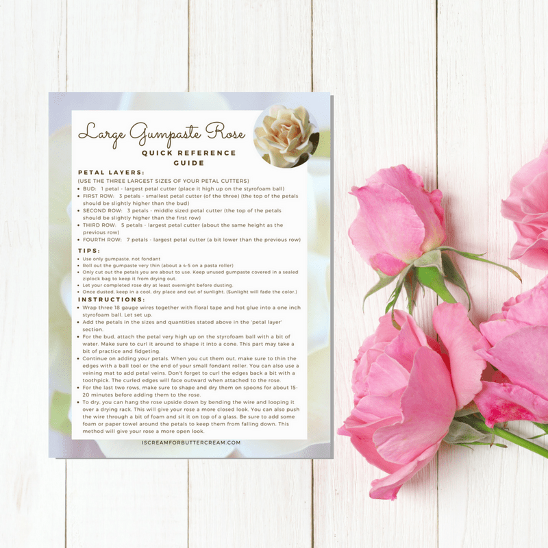 Large Gumpaste Rose Reference Guide Download