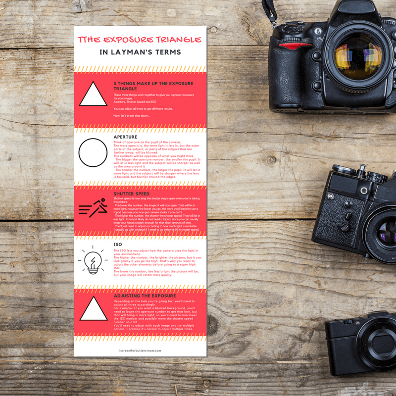 Photographing Cakes Infographic Printable Download