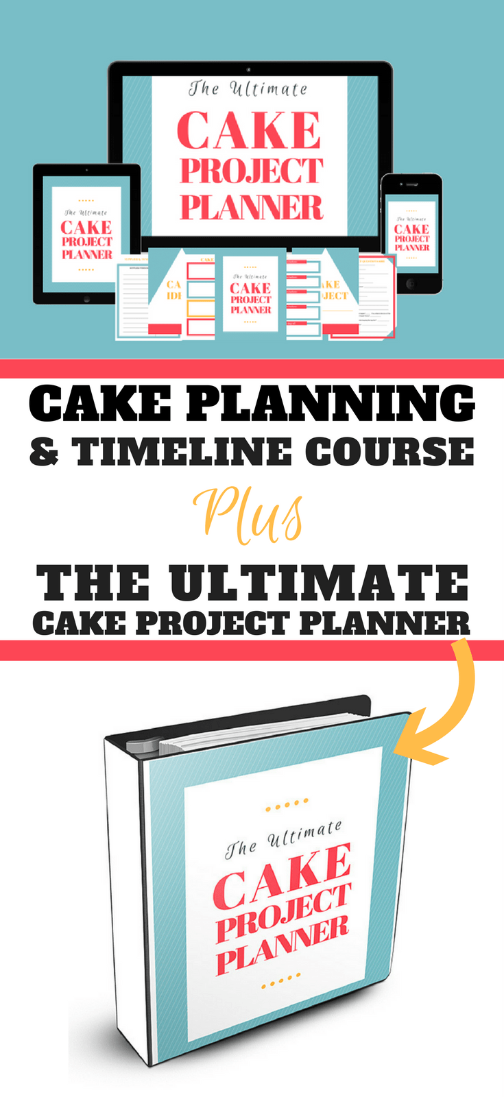 Cake Planning and Timeline Course Pinterest Graphic