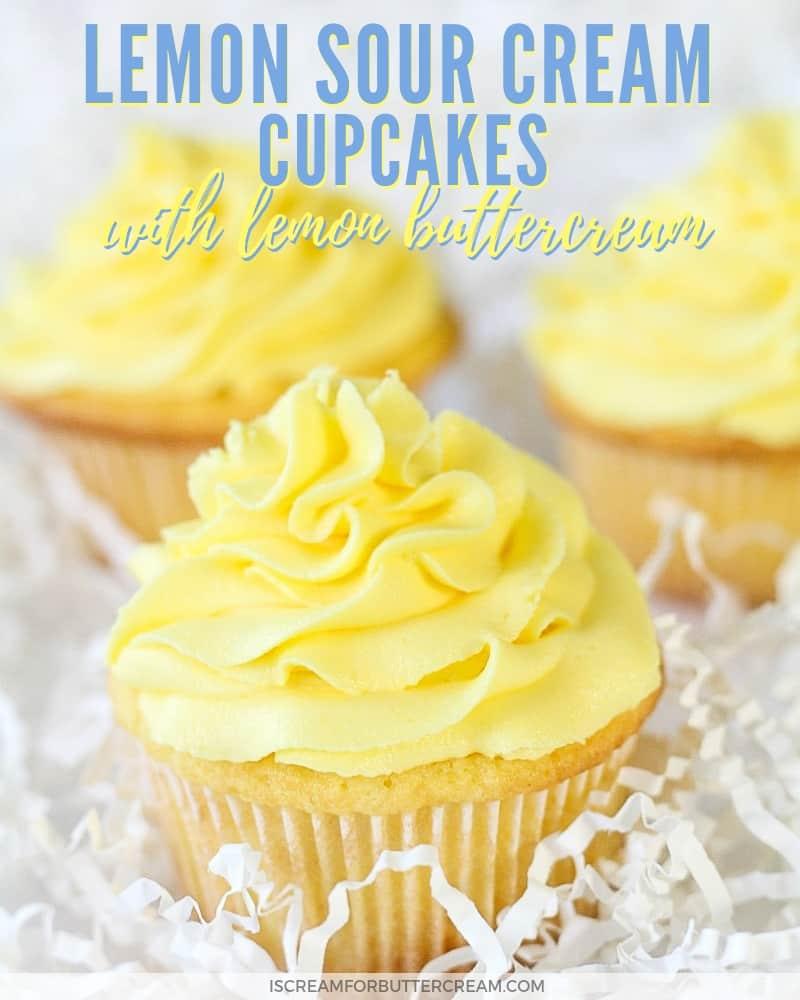 Lemon sour cream cupcakes Blog Post Title