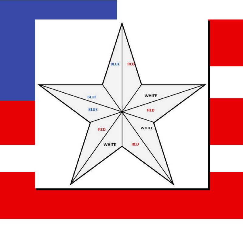 Patriotic Star Cake Template Pic