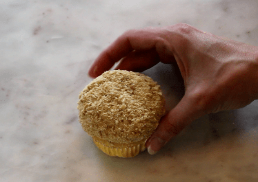 cupcake with cookie crumbs