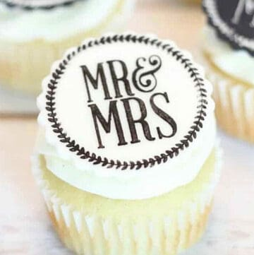 mr and mrs cupcake toppers featured image