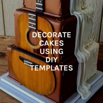decorate cakes using templates featured image