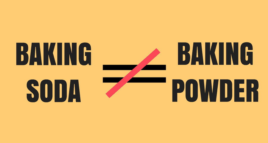 baking soda does not equal baking powder