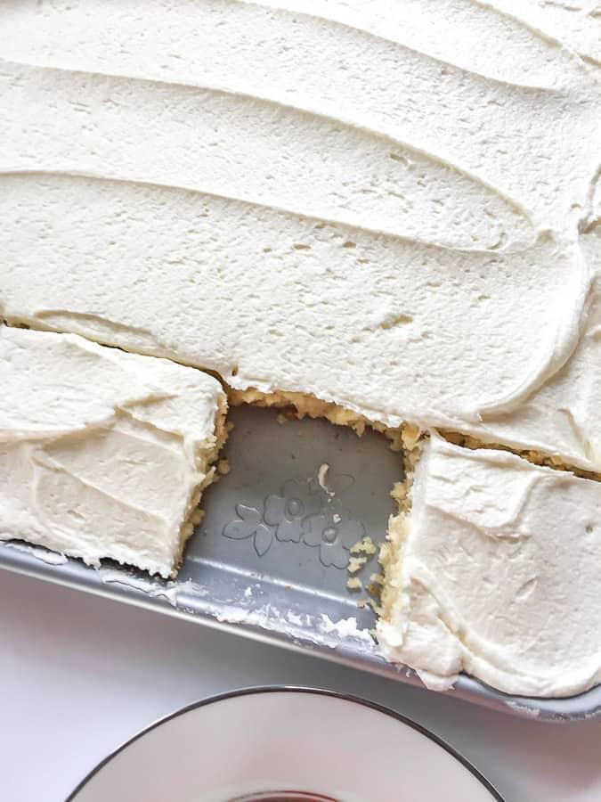 Yellow Buttermilk Sheet Cake top view