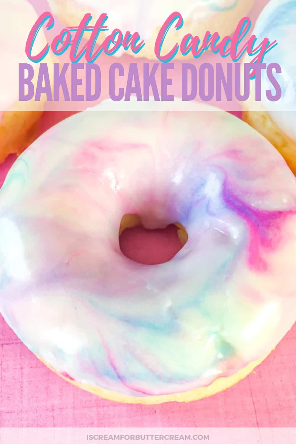 Cotton Candy Baked Cake Donuts New Pin 3