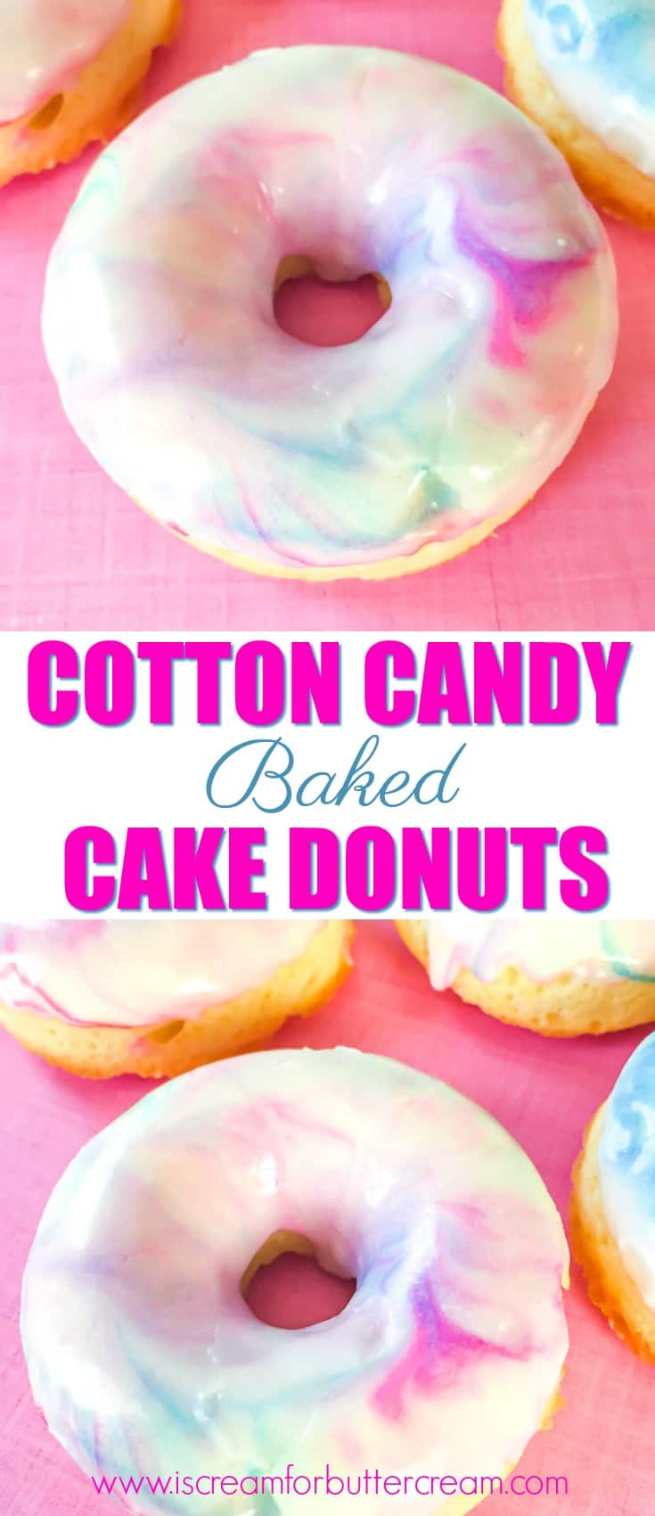Cotton Candy Baked Cake Donuts Pinterest Graphic