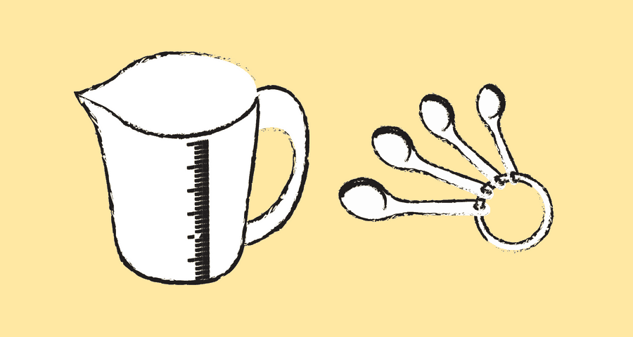 measuring cups graphic