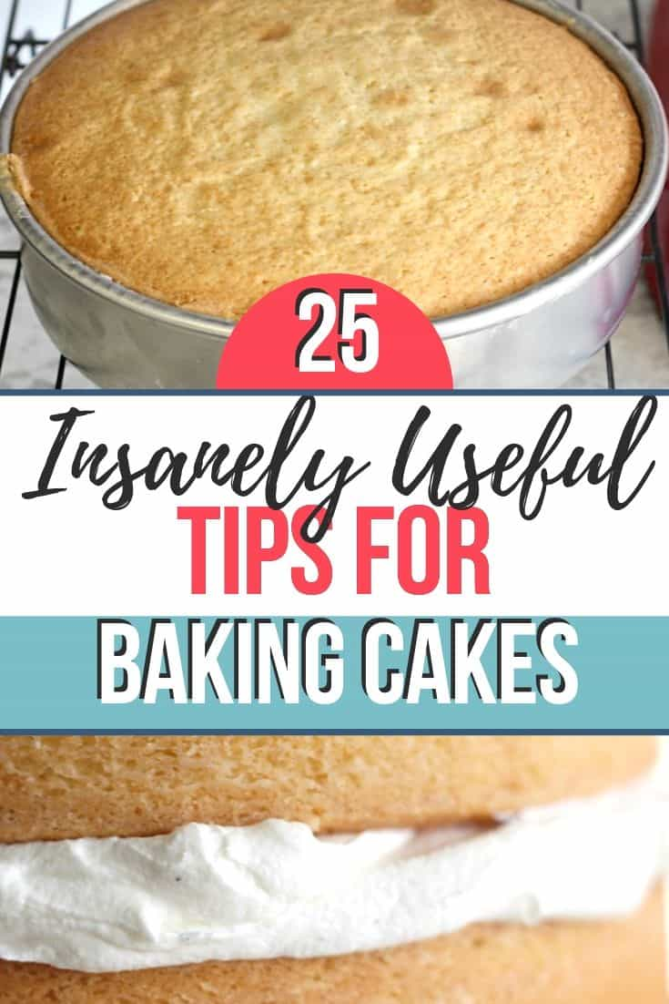25 Insanely Useful Tips for Baking Cakes Pin 3 and title image