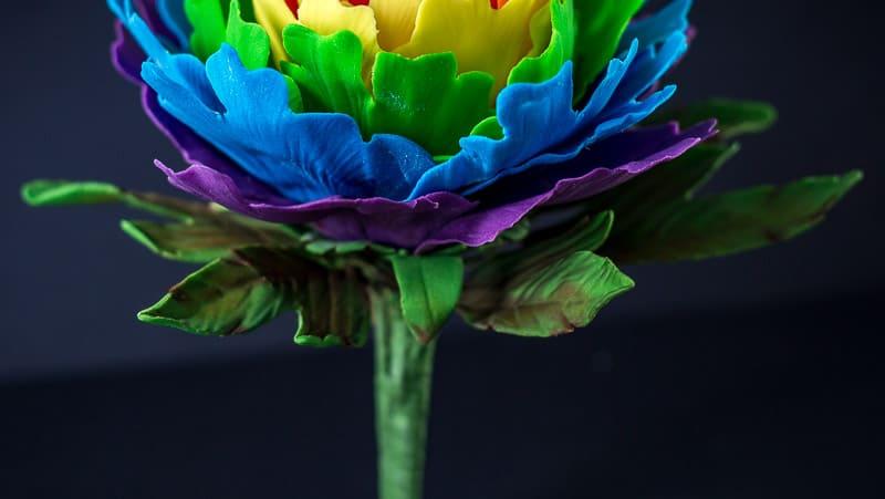 Rainbow Gumpaste Peony Tutorial