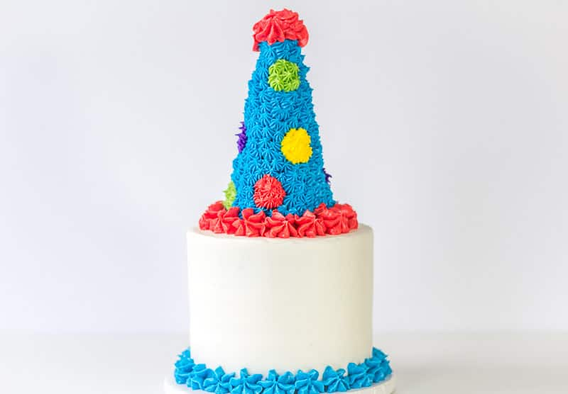 Party Hat Cake Topper Tutorial