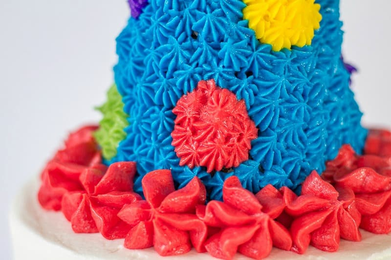 Party hat cake topper base