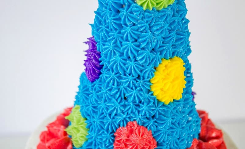 buttercream party hat cake topper
