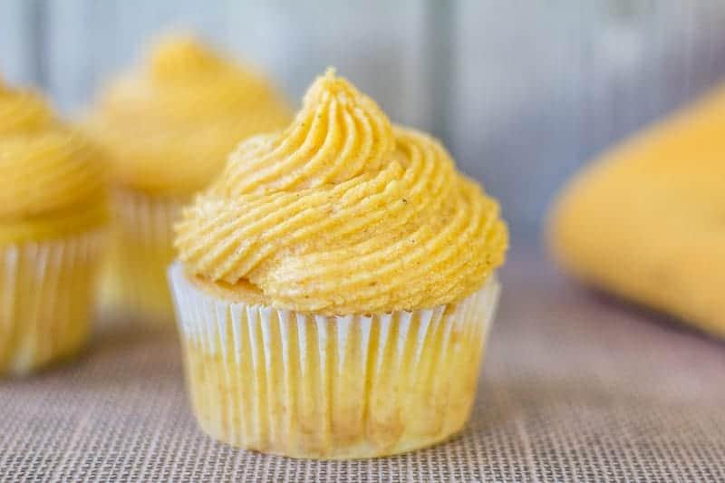 Pumpkin Buttercream on a cupcake