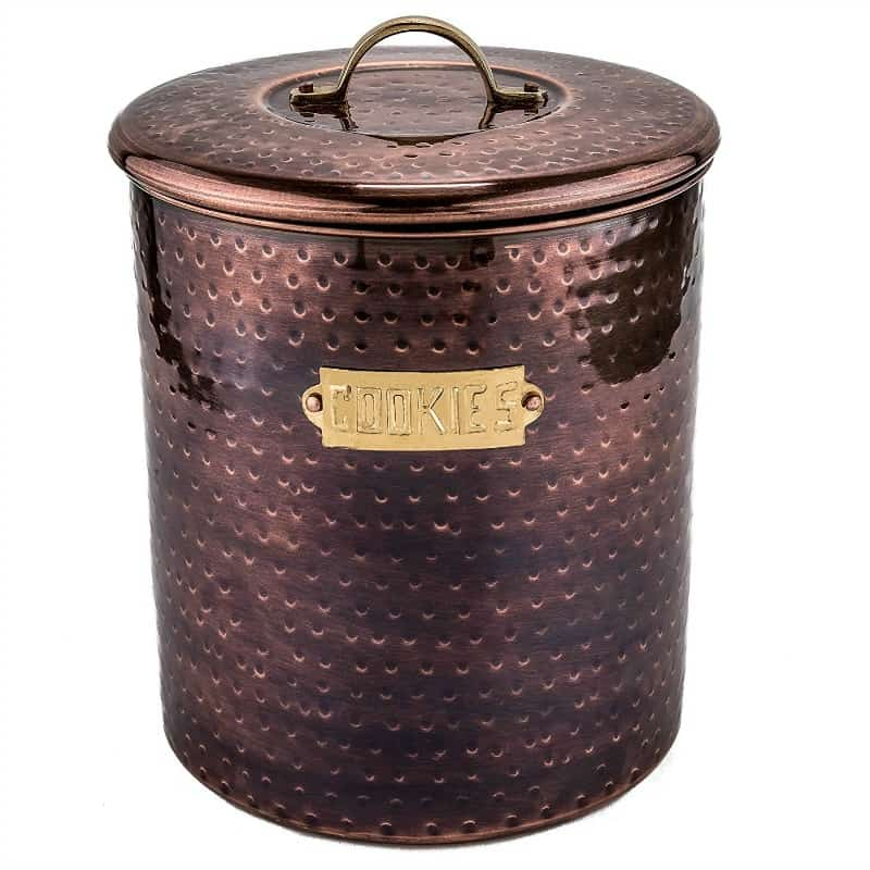 Bronze cookie jar