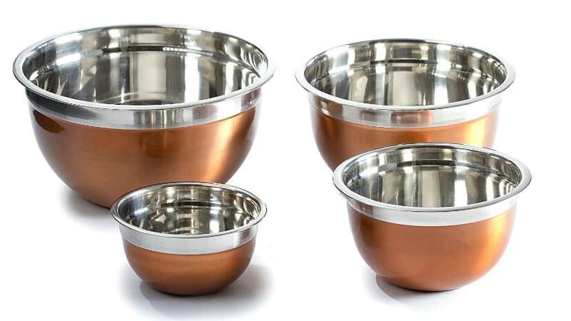 Copper mixing bowls