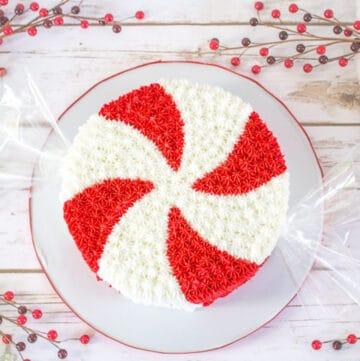 giant peppermint cake featured image