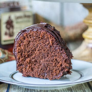 chocolate rum cake featured image