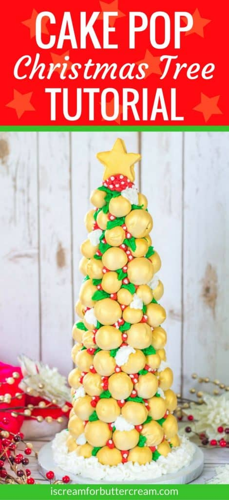 Cake Pop Christmas Tree Pinterest Graphic