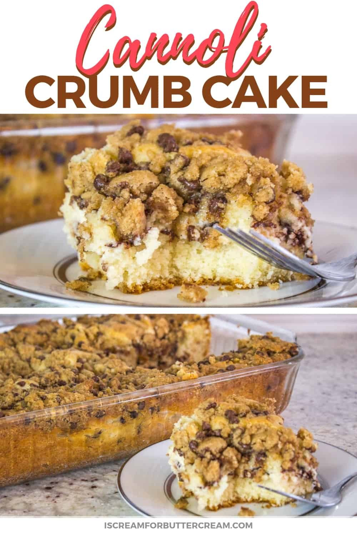 Cannoli Crumb Cake New Pinterest Graphic 1