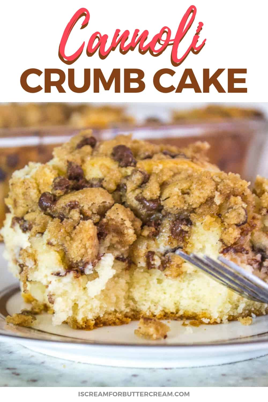 Cannoli Crumb Cake New Pinterest Graphic 2