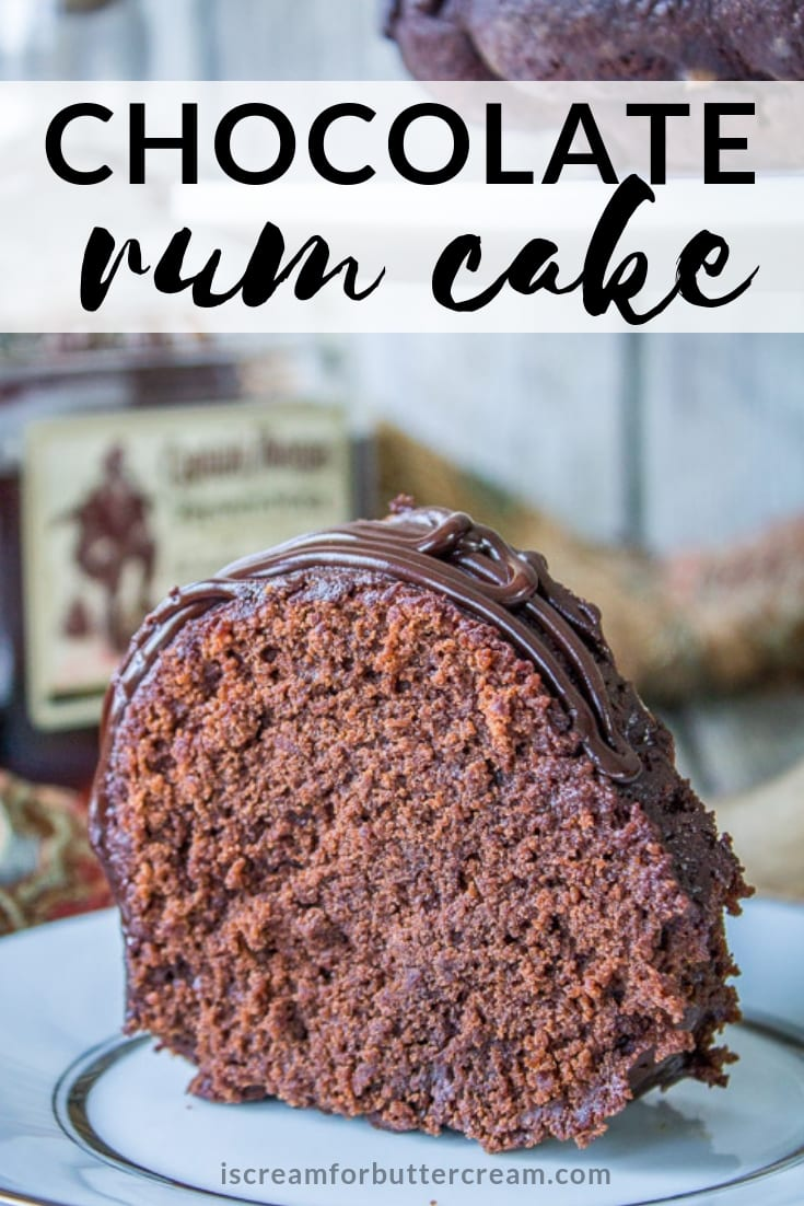 chocolate rum cake pin graphic
