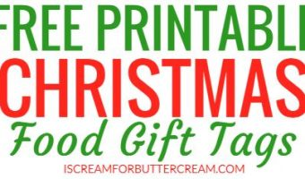 Free Printable Tags for Food Gifts