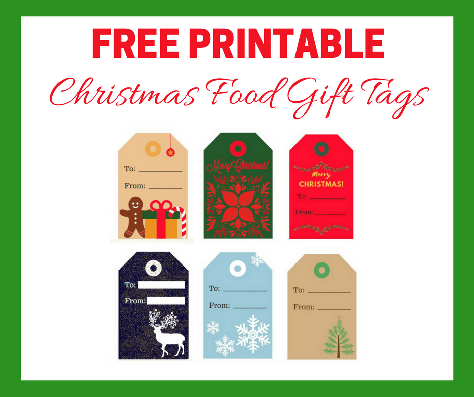Free Printable Tags for Food Gifts Blog Graphic