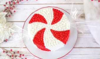 Giant Peppermint Candy Cake Tutorial