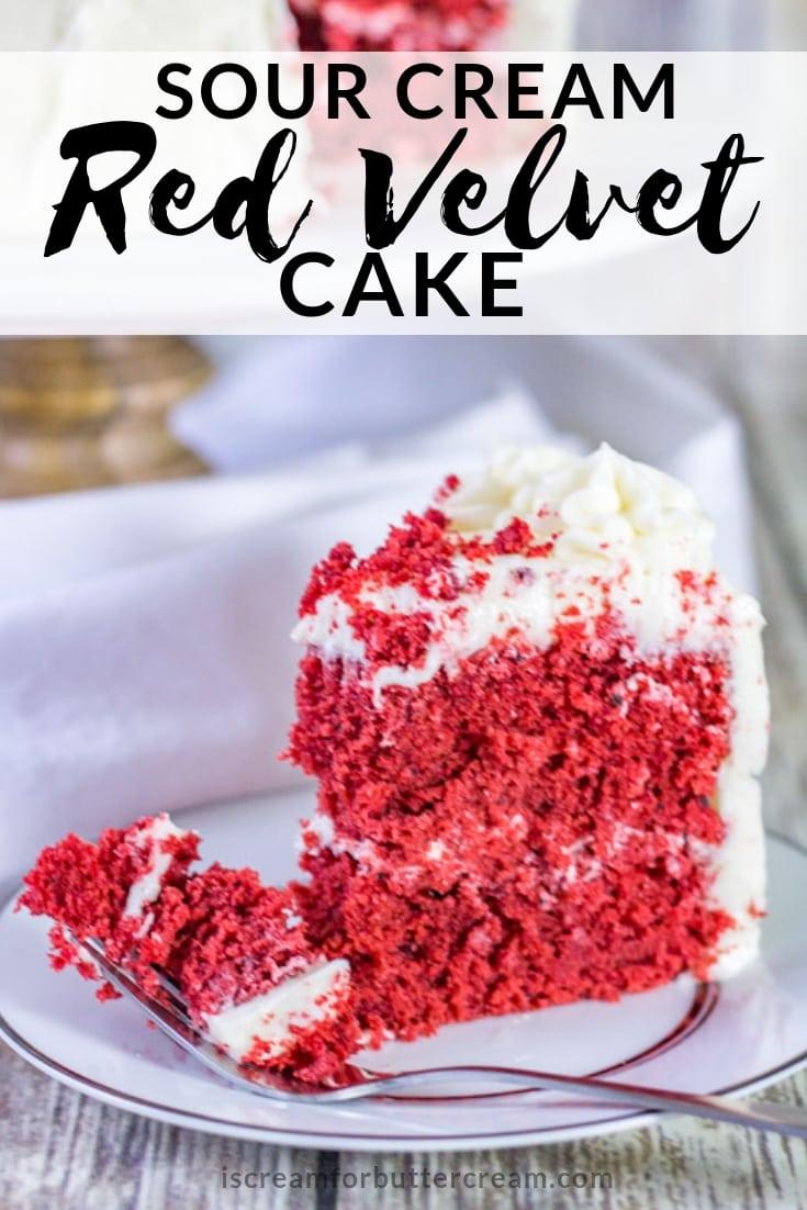 Sour Cream Red Velvet Cake Recipe Pin