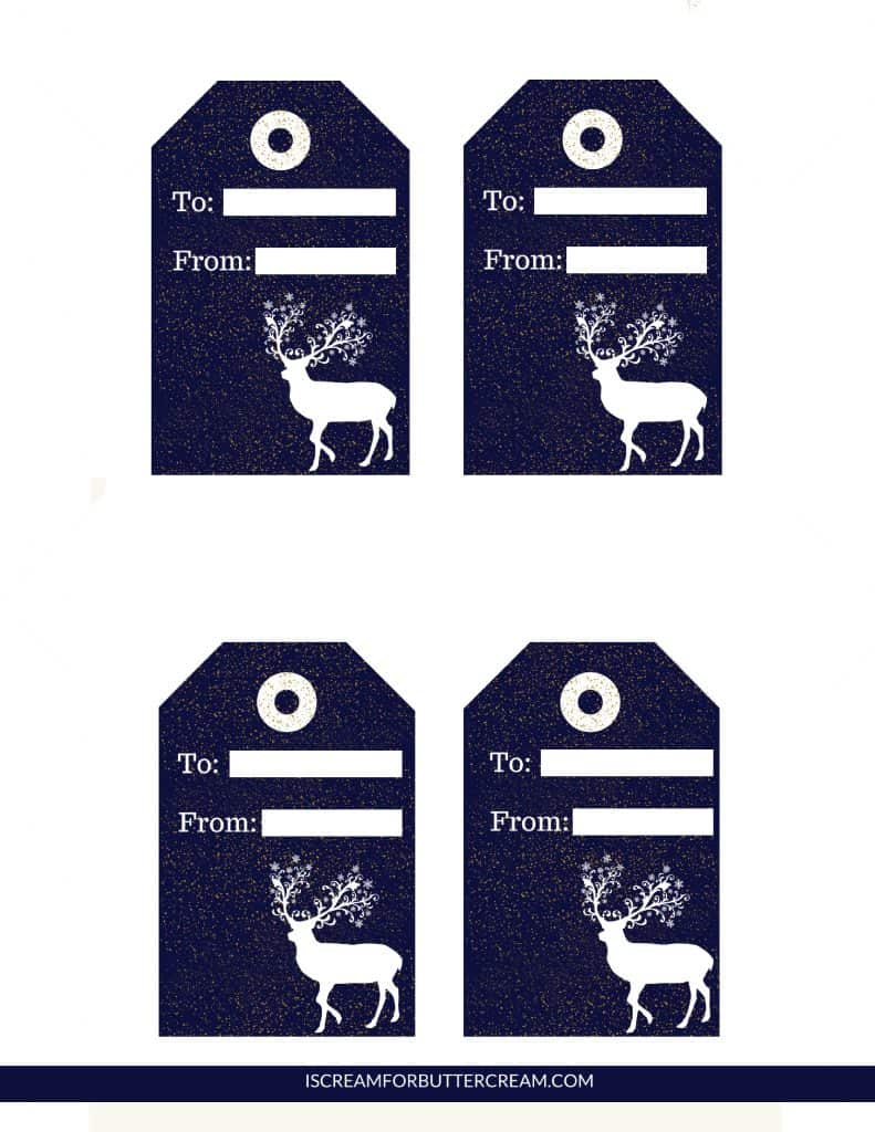 Free Printable Tags for Food Gifts Navy Tags