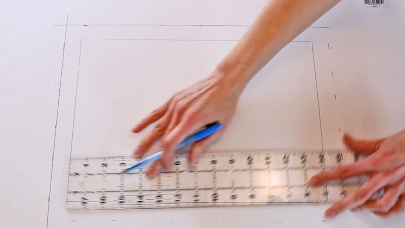 drawing a straight line on poster board