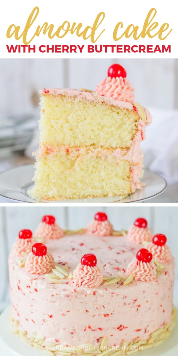 Almond Cake with Cherry Buttercream New Pin Image 3