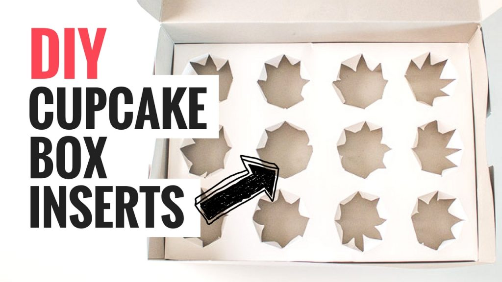 DIY Cupcake Box Inserts Graphic