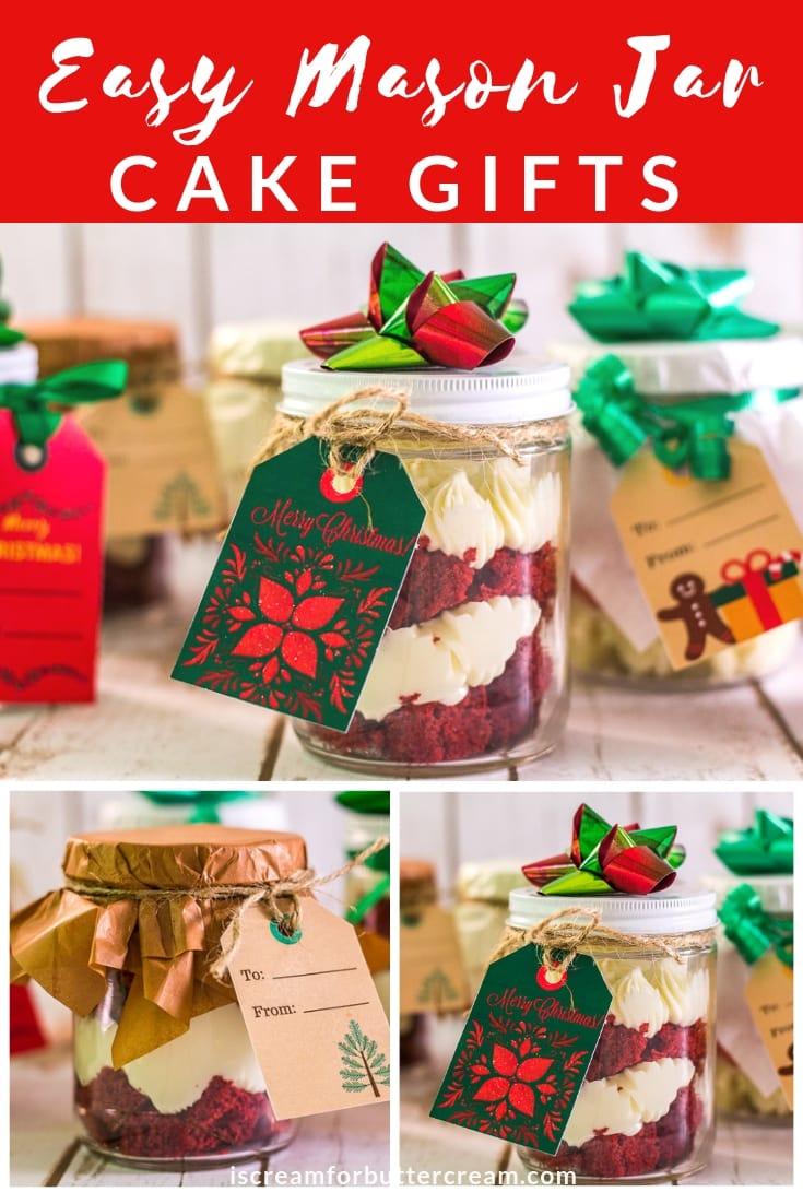 Easy Mason Jar Cake Gifts Pin