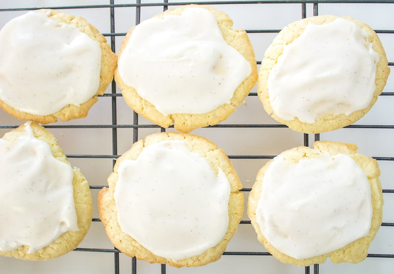 top view of pound cake cookie on rack