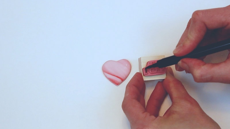 use edible marker on stamp