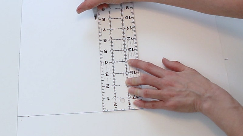 measureing up 8 inches on the poster board