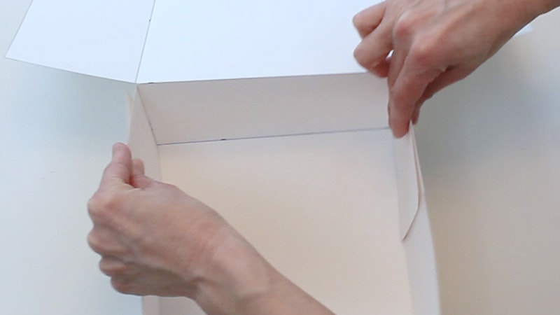 attaching the middle flaps of posterboard