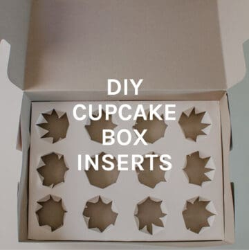 DIY cupcake box inserts featured image