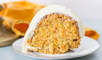 Caramel Carrot Cake with Caramel Cream Cheese Glaze